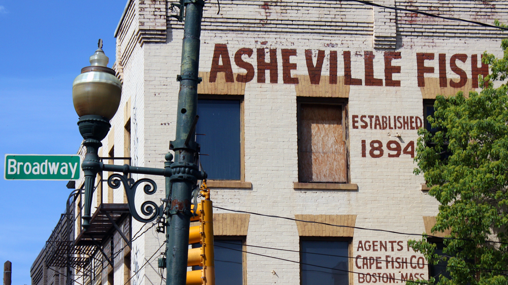 Asheville fish market building